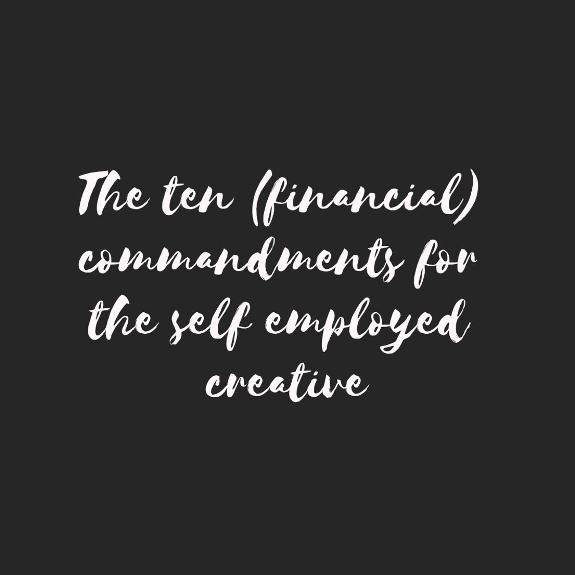 ten financial commandments